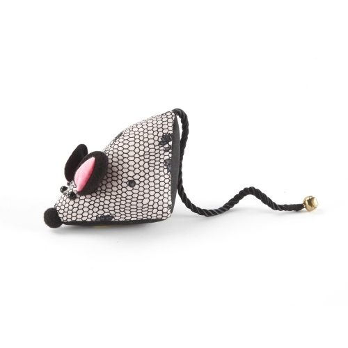 Mouse Pin Cushion Pink Rose Lace Design-0