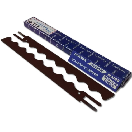 "Genuine 6"" Eastman Wavy Teflon Blades"