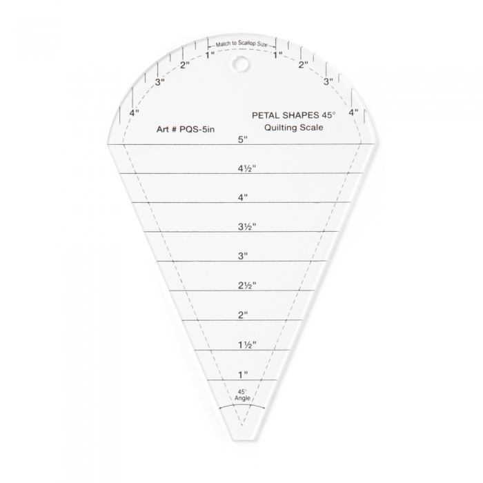 45° Quilting Scale Petal Template