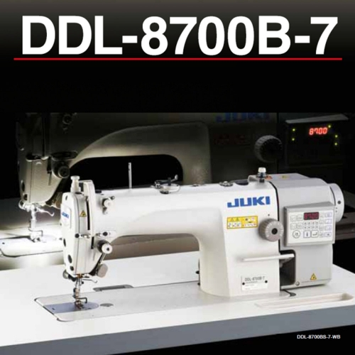 Juki DDL-8700B-7 - Direct-drive, High-speed, 1-needle, Lockstitch Machine with Automatic Thread Trimmer.