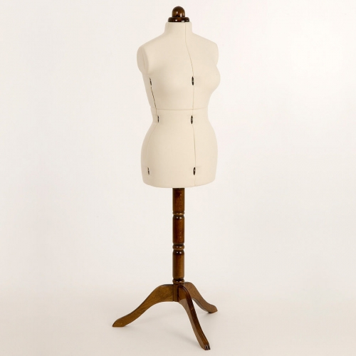 Adjustoform Lady Valet Small Dressmakers Form Ecru/Walnut Stand