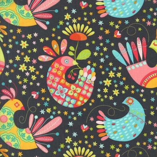 Michael Miller Stone Feathered Flock 100% Cotton Fabric x 0.5 Metre