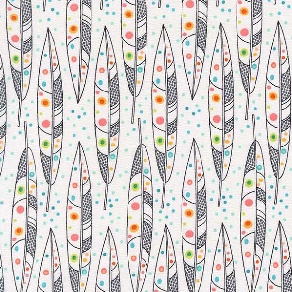 Michael Miller Coral Toutes Les Plume100% Cotton Fabric x 0.5 Metre