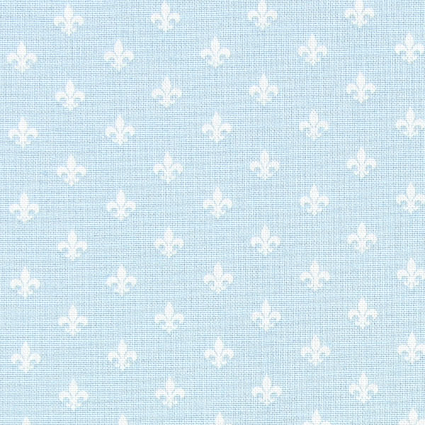 Little Friends Blue with White Fleur De Lis