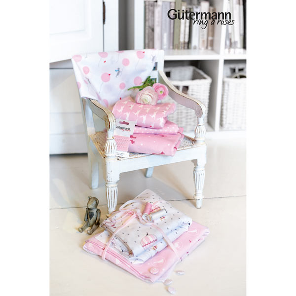 Little Friends Pink with White Fleur De Lis