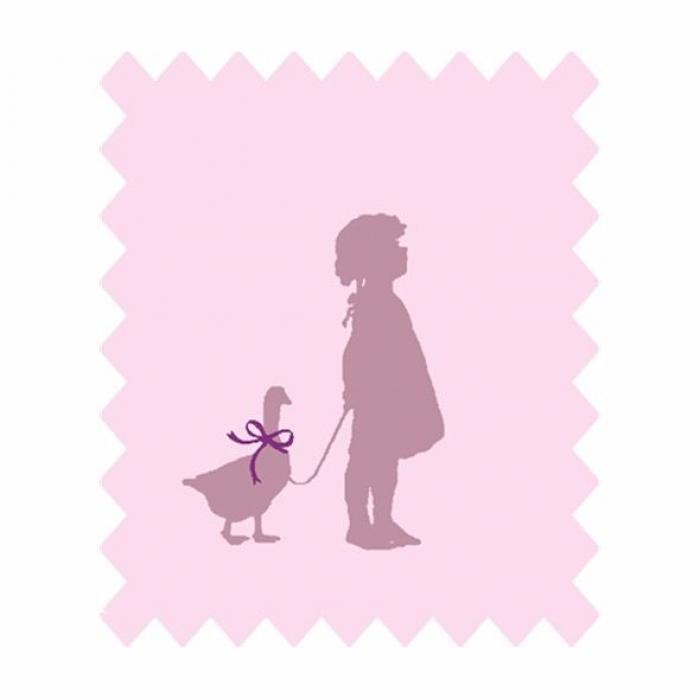 Little Friends Pink Child & Duck Print
