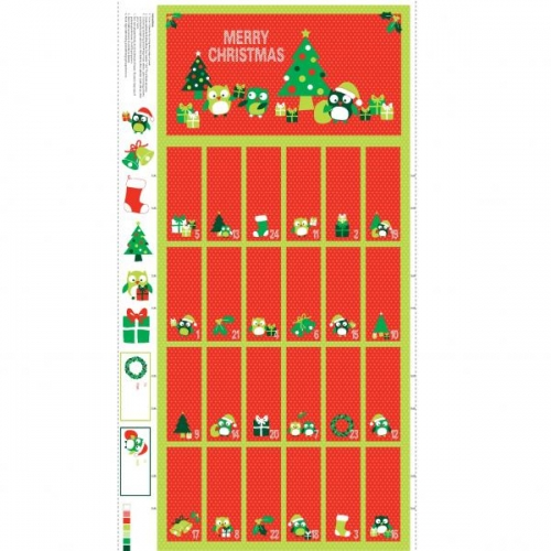 Christmas Hoots Advent Calender Panel (89320-102)-0