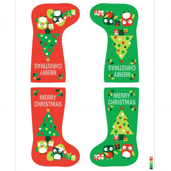 Christmas Hoots Stocking Panel (89320-103)-0