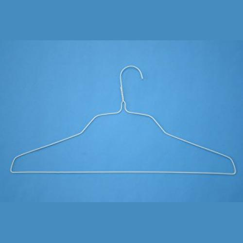 "18"" White Wire Shirt Hangers - 500 per box-0"