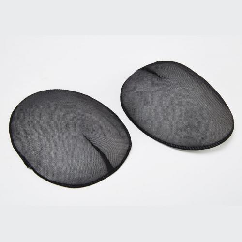 Black Covered Moulded Fibre Raglan Style Shoulder Pad
